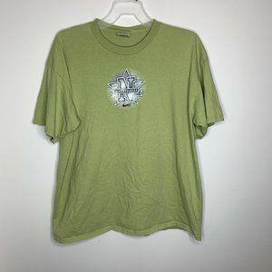Vintage Nike Mens XXL Green Nike Athletics Shirt